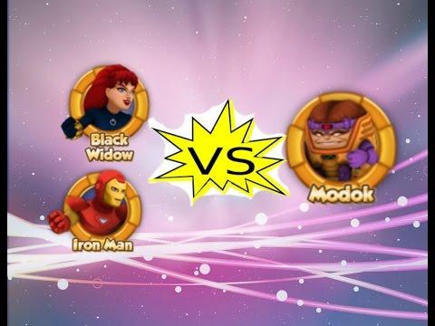 Heroup com Iron Man and Black Widow VS MODOK