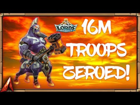 16M Troops/900M Might Zeroed with Single Rallies! Lords Mobile