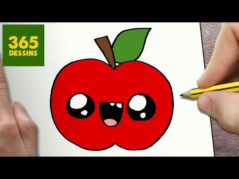 Comment Dessiner Pomme Kawaii étape Par étape Dessins