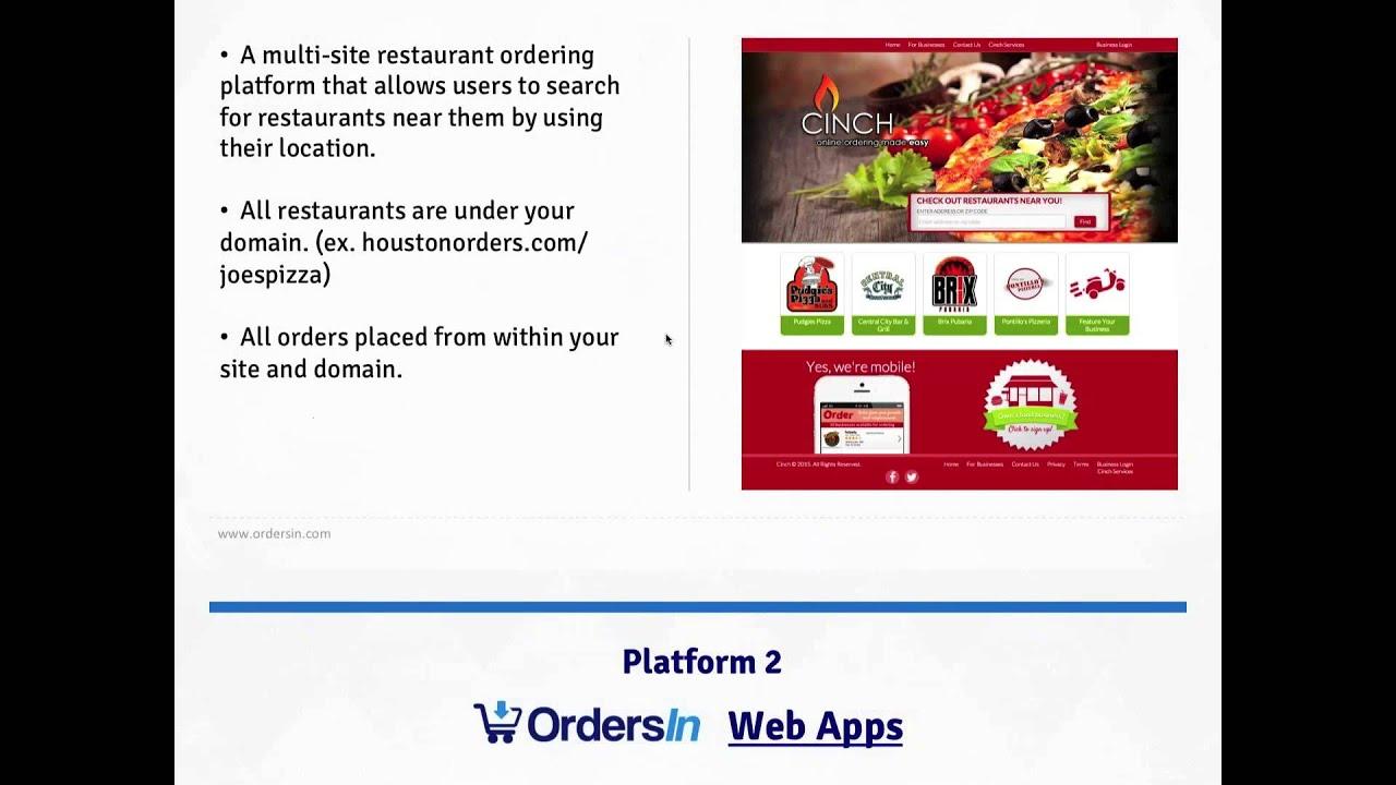 OrdersIn Demo - Multi Restaurant Ordering Software | BizOpp Zone