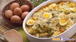 Pasta, Potato, Artichoke And Pea Casserole - Vegetarian Recipe