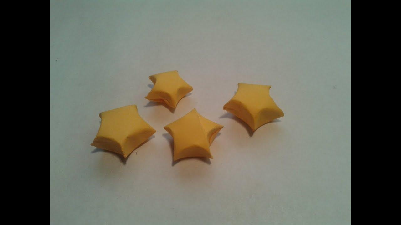 Como hacer una estrella de papel origami lucky star - Como hacer jarrones de papel ...