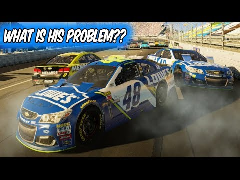 JIMMIE JOHNSON VS. JIMMIE JOHNSON??!! // NASCAR Heat 2 Online Racing