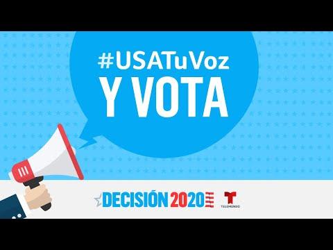 Usa tu voz y vota en las elecciones presidenciales de 2020 | Decisión 2020