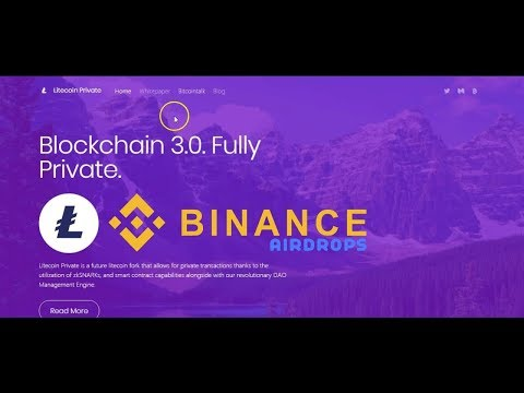 Lite Coin Private Free AirDrop || BINANCE CRYPTO AIRDROPS 2018