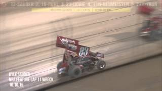 Kyle Sauder Sprint Car flip at Eldora Speedway