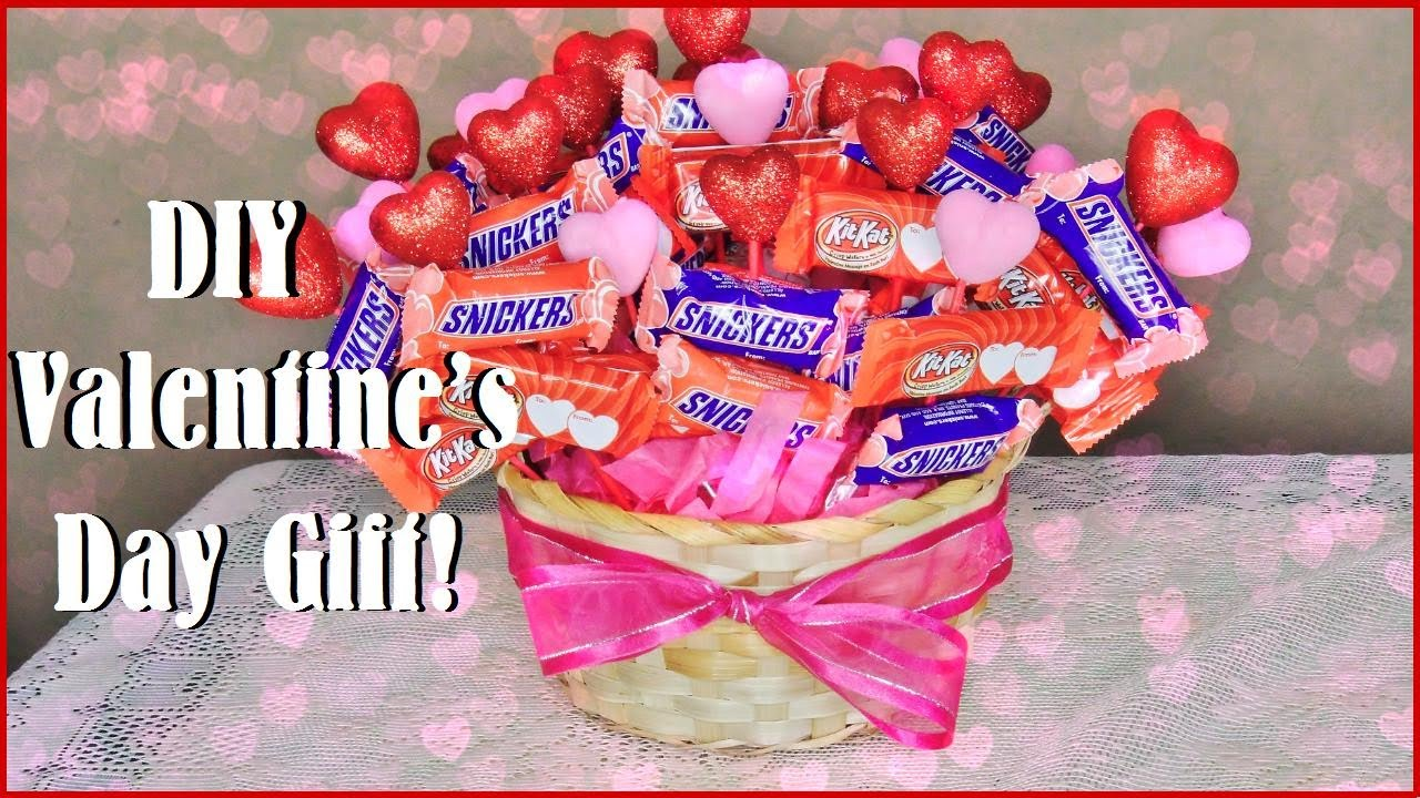 Diy Valentine S Day Gift Chocolate Bouquet Youtube