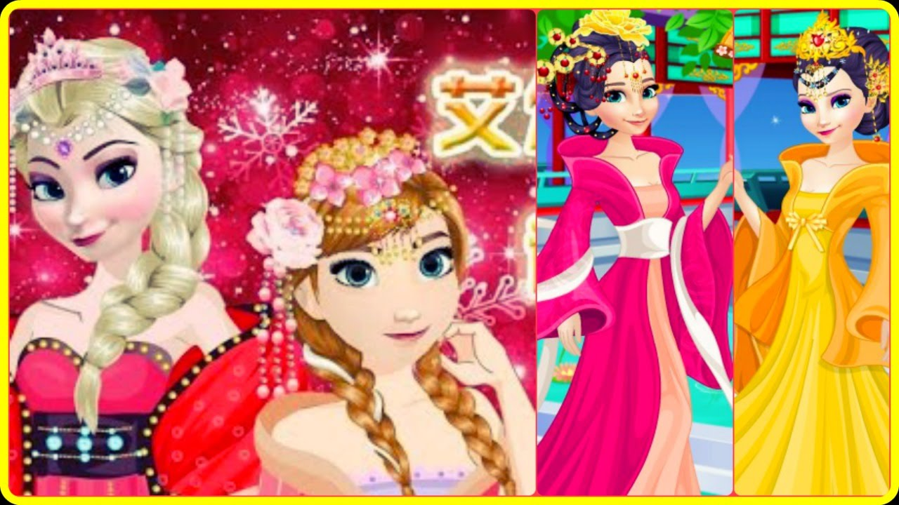 Dress up chinese - Frozen Elsa And Anna Chinese Dress Up Video Game For Girls