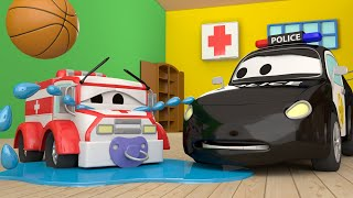 Car Patrol -  Baby Amber's MISSING - Car City ! Police Cars and fire Trucks for kids
