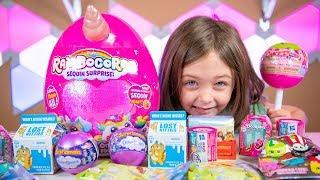 HUGE Rainbocorns Sequin Surprise Eggs NEW Blind Bags & Toys for Girls Kinder Playtime