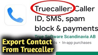 How to Export Contacts From Truecaller