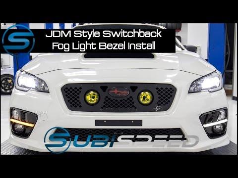 Subispeed - JDM Style Switchback Fog Light Bezel Install