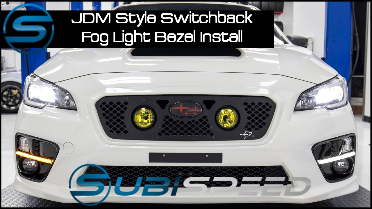 subispeed jdm style switchback fog light bezel install [ 1280 x 720 Pixel ]