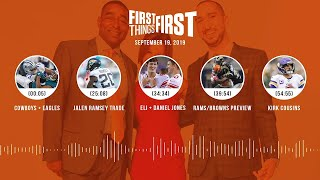 First Things First Audio Podcast (9.19.19)Cris Carter, Nick Wright, Jenna Wolfe | FIRST THINGS FIRST