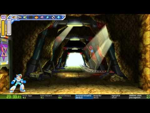 Megaman Maverick Hunter X 100% speedrun in 33:56.58