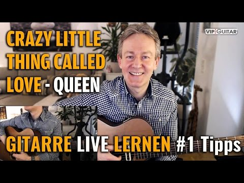 Livestunde - Crazy Little Thing Called Love - Queen I Gitarre lernen #1 Tipps