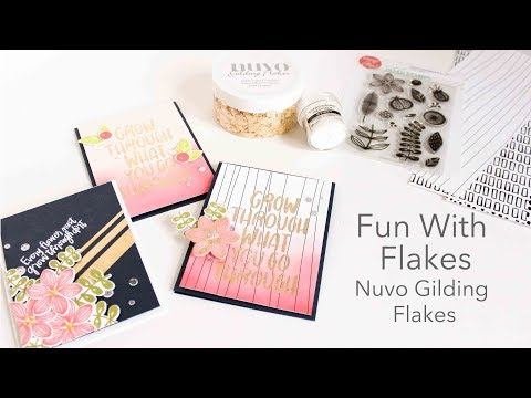 Fun With Flakes - Product Talk Nuvo Gilding Flakes