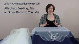 Veil Beading, Trim, and Embellishment Examples
