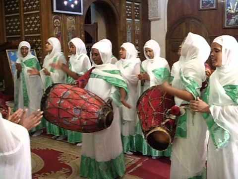 Ethiopian Orthodox Tawahedo Mezmur At Ethioian Wedding In Egypt