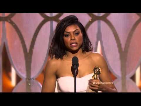 Taraji P. Henson wins Best Actress in a Drama Series at the 2016 Golden Globe Awards for Empire.