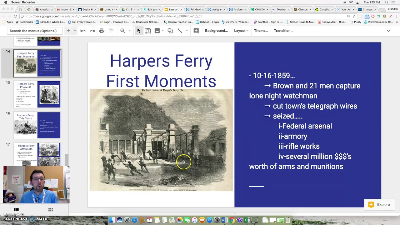 an introduction to john brown and harpers ferry raid An introduction john brown's raid  john brown's raid on harpers ferry a close reading passage what is a raid john brown grew up in a family against slavery in.