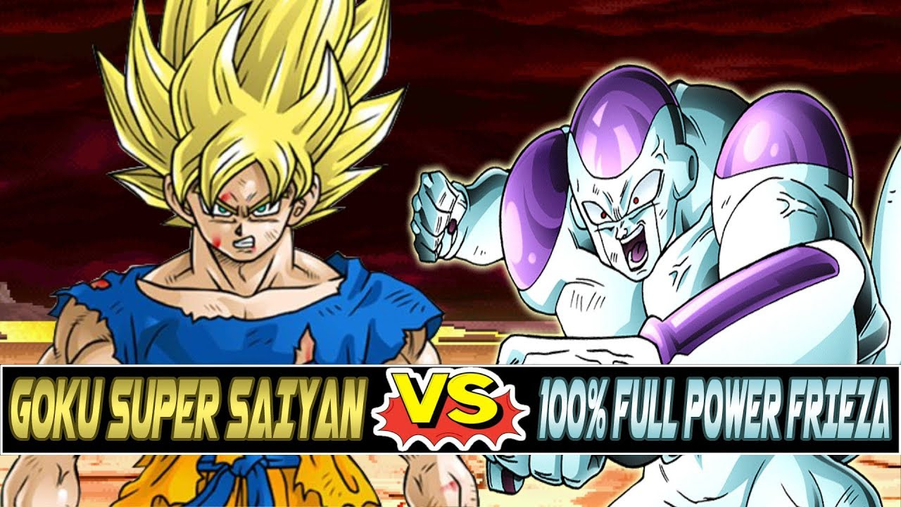 M.U.G.E.N. | Super Saiyan Goku vs 100% Full Power Frieza ...