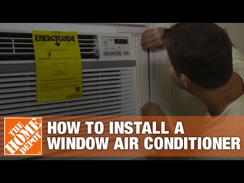 how-to-install-a-window-air-conditioner-|-the-home-depot
