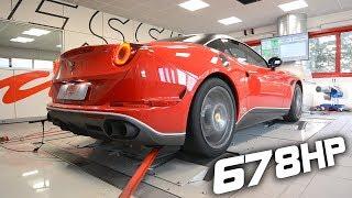 Ferrari California T Stage 1 Remap Makes Impressive 678HP on the Dyno!!