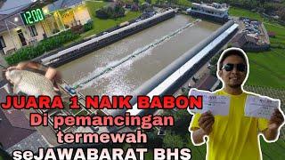 JUARA 1 ✓ DI KOLAM PEMANCINGAN TERMEWAH DAN TERBESAR DI JAWABARAT | BHS | STRIKE IKAN MAS BABON