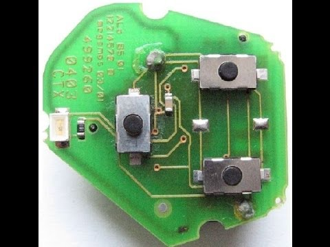 Car Key Fob Microswitch Solder Button Repair Fix Change