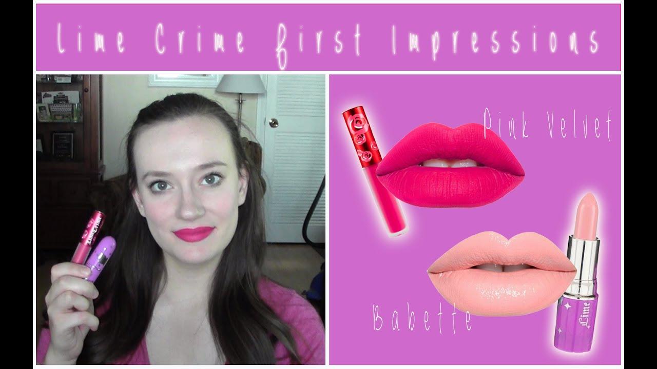crime lipstick Lime babette