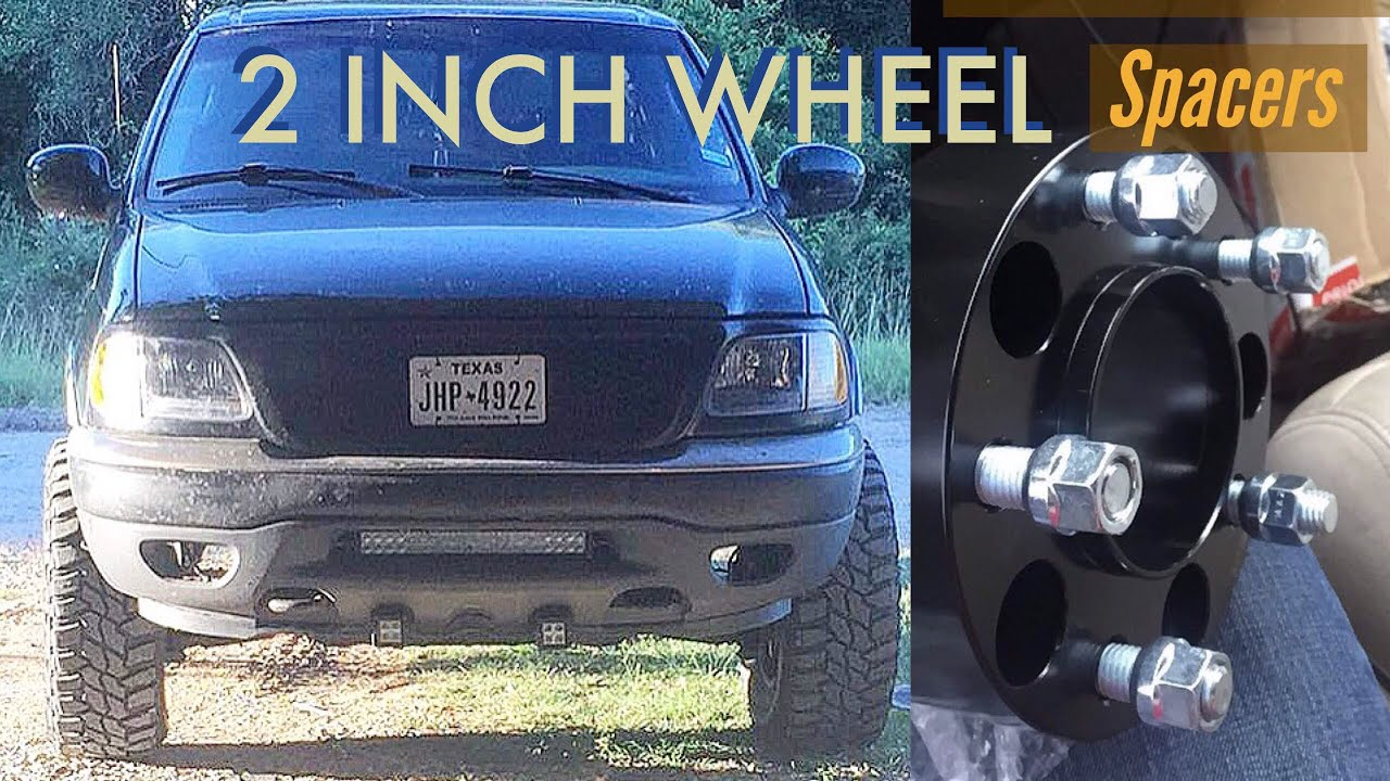 Wheel Spacers For Trucks >> 2 inch wheel spacers on F-150 - YouTube