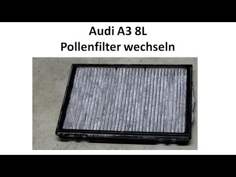 tutorial audi a3 pollenfilter wechseln youtube. Black Bedroom Furniture Sets. Home Design Ideas