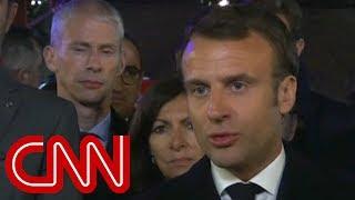 Emmanuel Macron: We will rebuild Notre Dame