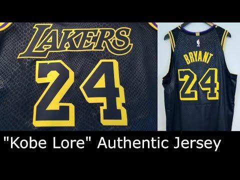 Kobe Bryant Nike Authentic Jersey La Lakers Kobe Lore Black Mamba Review Part 1 Youtube