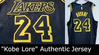 "Kobe Bryant Nike Authentic Jersey LA Lakers ""Kobe Lore"" Black Mamba Review Part 1"