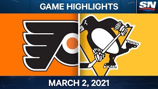NHL Game Highlights | Flyers vs. Penguins - March 02, 2021