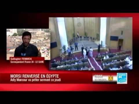 Egypte : Adly Mansour va prêter serment, mais n'aura que des pouvoirs limités - 04/07/2013