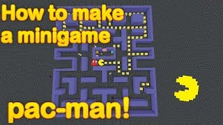 Minecraft - How to make a minigame: PAC MAN!