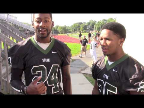 Inside Lake Erie College Storm Football Picture Day