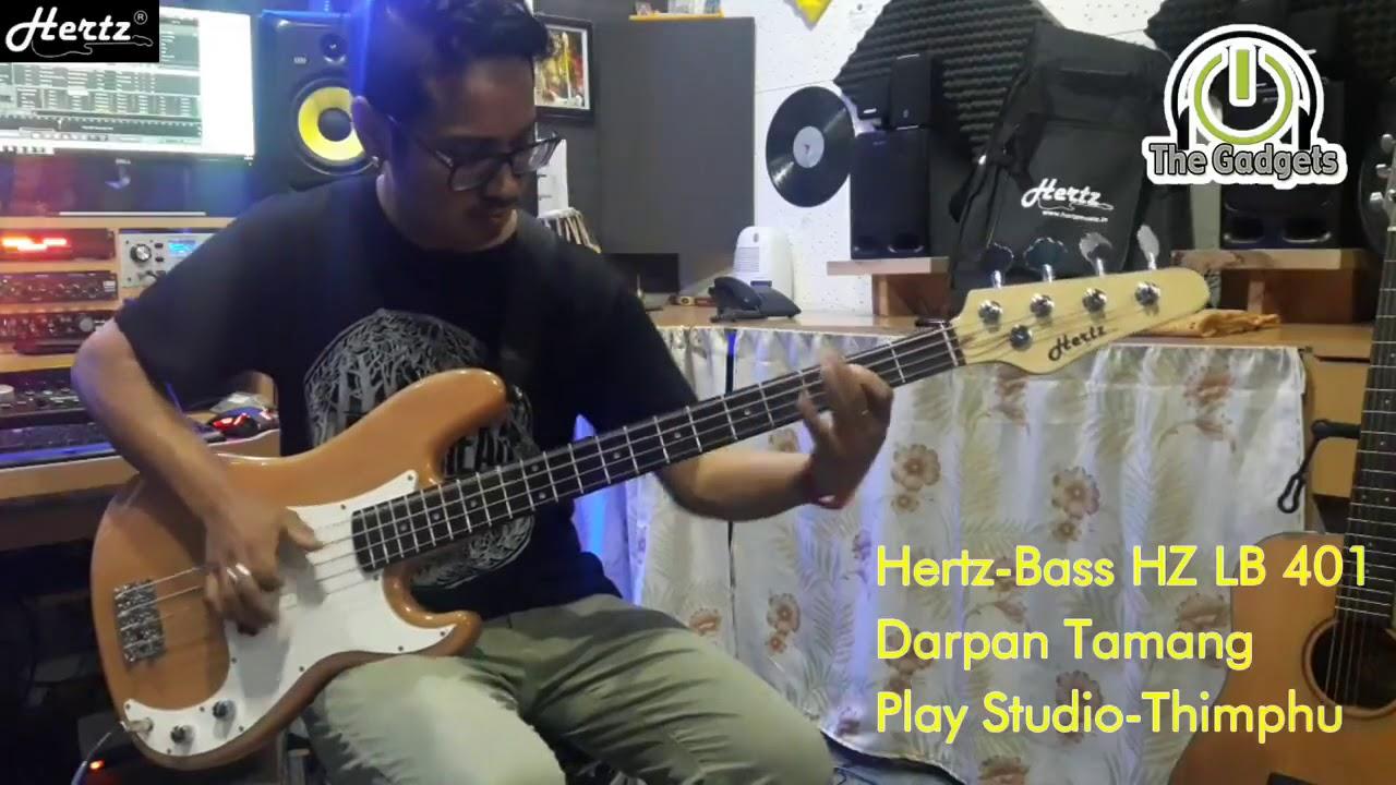 hertz bass guitar hz lb 401 played by darpan tamang the gadgets thimphu youtube. Black Bedroom Furniture Sets. Home Design Ideas