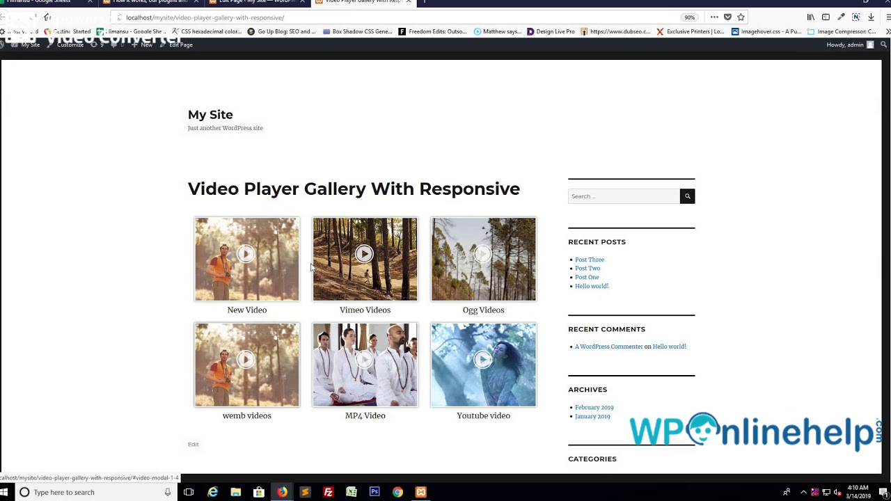 Video Player Gallery with Responsive – WordPress plugin