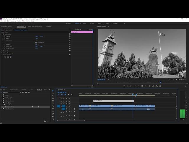 Premiere Pro Eğitimi 18 -  Adjustmen Layer ile Efekt Perdesi kullanımı