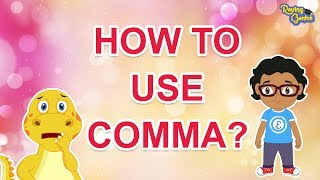 How To Use Comma In English Sentences | English Grammar For Kids | Roving Genius