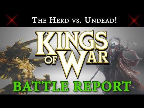 Kings of War Battle Report The Herd vs. Undead 2000 Points!!!
