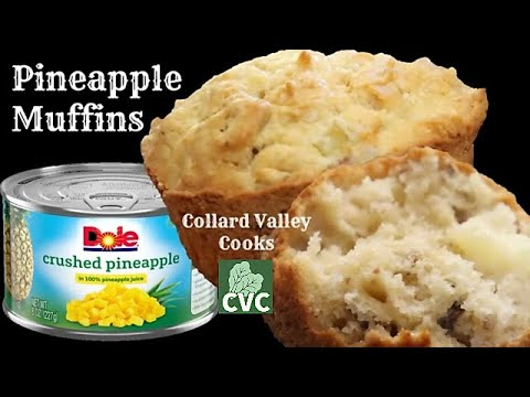 Pineapple Muffins, Canned Pineapple, Pecans & Sour Cream are so Moist and Delicious!