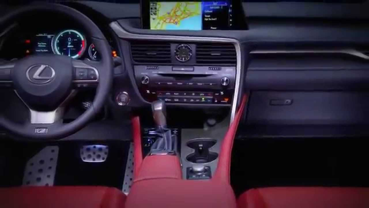 All New 2016 Lexus RX 350 F Sport - Interior - YouTube