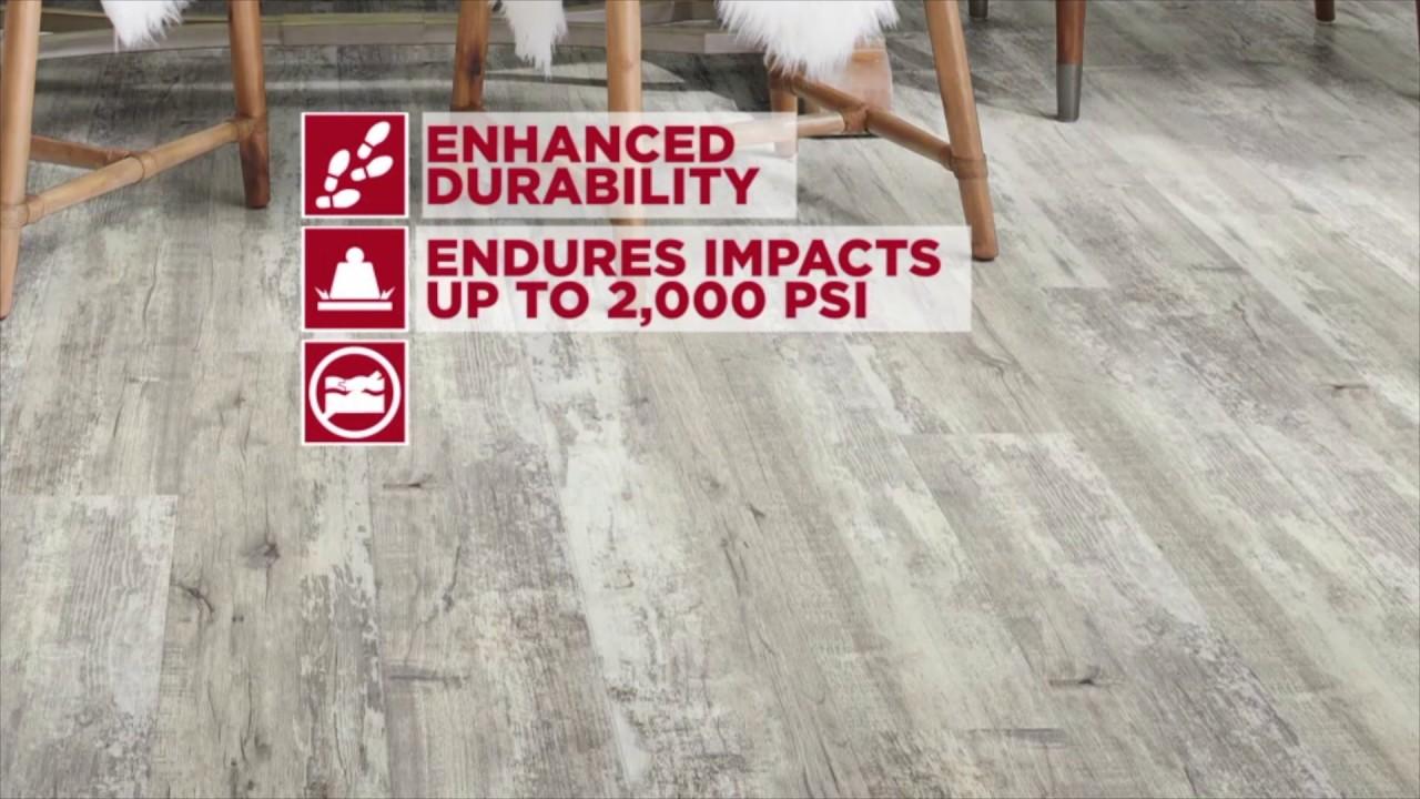 Floorte Pro Endura Plus Vinyl Flooring YouTube - Durability of vinyl wood plank flooring