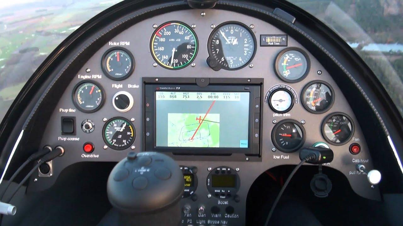 Calidus Gyrocopter Autogyro fliegen Rotenburg ML Flug de 2 ...