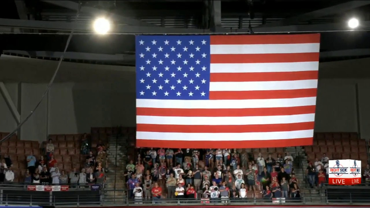 RSBN WATCH: EXPLOSIVE National Anthem at TRUMP Rally in Manchester, NH